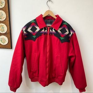 Pendleton High Grade Westernwear Aztec Wool Bomber